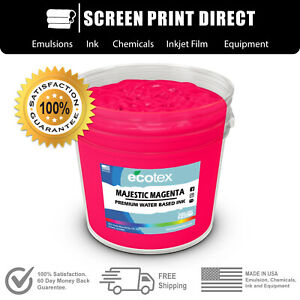Ecotex Fluorescent Majestic Magenta Water Based Ready To Use Discharge Ink 5gal