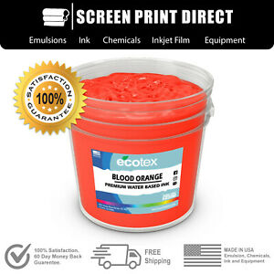 Ecotex Fluorescent Blood Orange Water Based Ready To Use Discharge Ink 5 Gallon