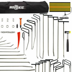 Repair Hail Paintless Tool Removal Dent Puller Hammer Push Rods led Board