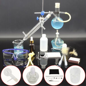 G3 3 Glass Essential Oil Steam Distillation Kit Lab Apparatus With Condenser