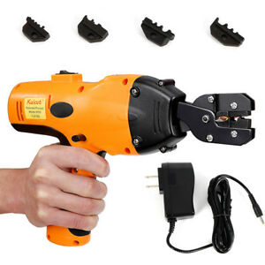 12t Electric Wire Terminal Crimpers Crimping Tools For Cable Lug W 4 Spare Dies