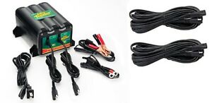 New Deltran Battery Tender Plus 12v 2 Bank Battery Charger 2 25ft Extension