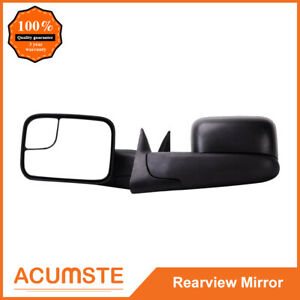Telescoping Tow Power Heated Folding Mirrors L R For 1998 2002 Dodge Ram Pickup