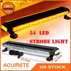 26 Amber 54 Led Emergency Warning Flash Strobe Light Bar Tow Truck Snow Plow