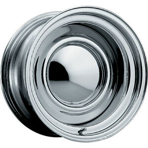 4 New 15x8 Pacer 03c Chrome Smoothie Steel Wheels Rims 06 5x4 50