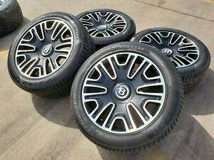 19 Bentley Continental Gt Gtc Oem Wheels Rims Oe Black Mulliner Flying Spur