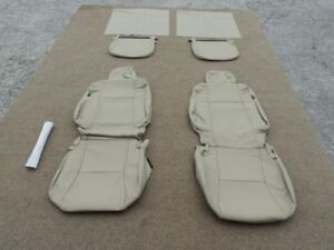 Leather Seat Covers For 2009 11 Toyota Tacoma Acc Cab Base Sand Beige 224
