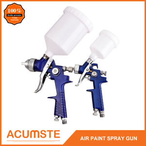 2pc Hvlp 1 0mm 1 4mm Air Spray Nozzle Gun Kit Primer Gravity Feed Paint 30 80psi