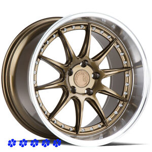 Aodhan Ds07 18x9 5 10 5 15 Bronze Staggered Wheels 5x114 3 Fit Nissan 350z Nismo
