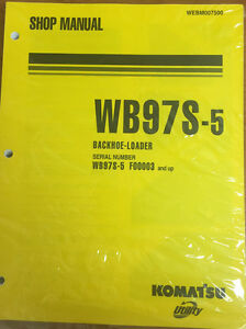 Komatsu Wb97s 5 Backhoe loader Shop Manual Repair Loader