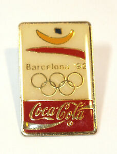 Vintage Enamel Pin Coca Cola Olympics Barcelona 1992 Lapel Tie Tack Badge Travel