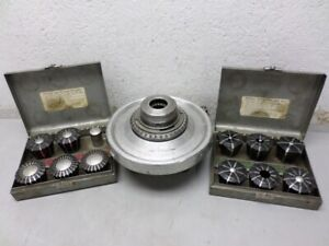Jacobs Spindle Nose Lathe Chuck No 91 With 12 Collets