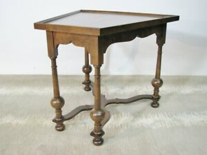 Vintage 1970 S Baker Furniture Walnut Jacobean Ocassional Table