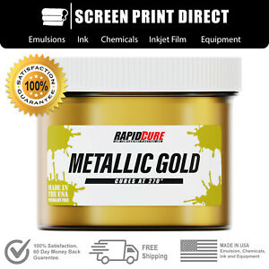 Ecotex Metallic Gold Premium Plastisol Ink For Screen Printing 8oz