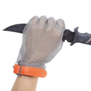Plastic Belt Stainless Steel Mesh Glove Cut Resistant Chain Mail Protective V1g2