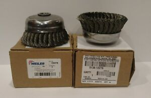 Weiler Wire Cup Brushes 5 Diameter 5 8 11 Arbor 6600 Rpm pack Of 2