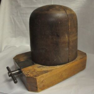 Antique Hat Stretcher Wooden Working Order Vintage Milliner Tool