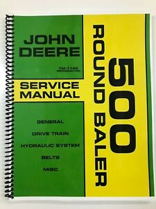 Service Manual For John Deere 500 Round Baler Tm 1140 Repair Manual