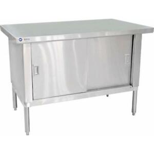 Commercial Stainless Steel Work Prep Table Cabinet 24 X 48 Free Freight