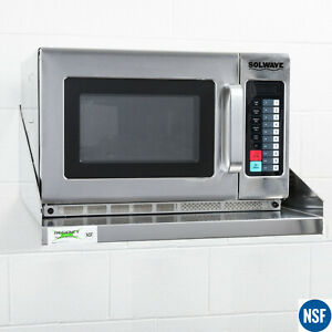Commercial Restaurant Kitchen Stainless Steel Microwave Shelf