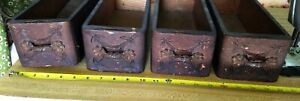 Set Of 4 Singer Treadle Sewing Machine Drawers For Restoration
