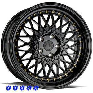 Aodhan Ah05 Wheels Black Lip Rims 18 30 Staggered 5x4 5 99 04 Ford Mustang Gt