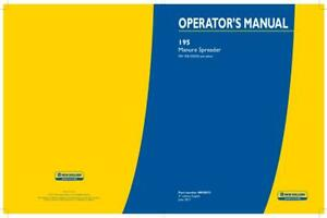 New Holland 195 Manure Spreader Operator s Manual