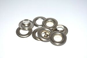 500 2 3 8 Nickel Plated Solid Brass Self Piercing Grommets washers 500 Pair