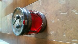 1883 Vintage Ice Bucket Red Drum F B Rogers Silver Company