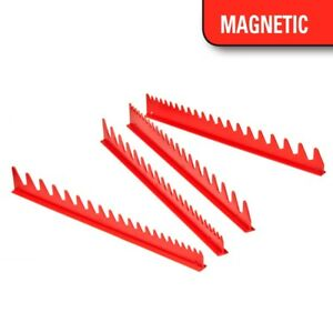 Ernst 6014m Wrench Rail Set With Magnetic Backing 40 Tool Red