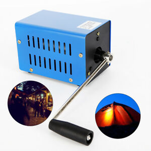 Usb Hand Shake Crank Power Generator Emergency Phone Charger Camping Survival