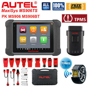 Autel Maxisys Ms906ts Obd2 Diagnostic Scanner Car Ecu Programmer Key Coding Tpms