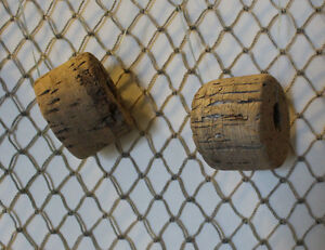 6 1 2 X 2 1 2 Real Authentic Vintage Used Fishing Net 6 Old Bouys Floats