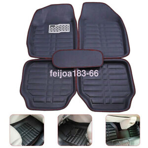 5x Car Floor Mats Front Rear Carpet Universal Auto Mat All Weather Waterproof