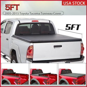 For 2005 2015 Toyota Tacoma 5ft Short Truck Bed Roll Up Tonneau Cover