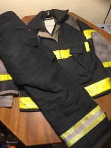 Firefighter Jacket Coat Bunker Fire Turnout Aramid Nomex Fr And Pants