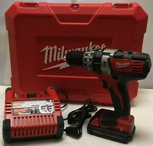 Milwaukee 18v Cordless Hammer Drill 2604 20 Rechargeable Battery Charger Case