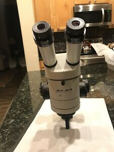 Stereo Microscope Wild Heerbrugg M3z With 0 5x Lens And 10x 21 Eyepieces