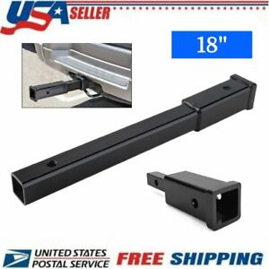 New 18 Hitch Extension Receiver 2 Extender 5 8 Pin Hole 4000 Lbs Towing Vi