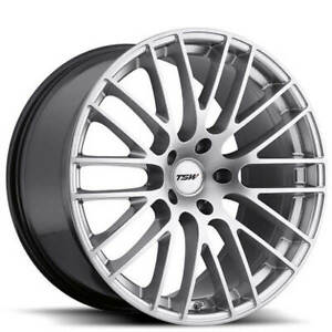Qty4 19 Staggered Tsw Wheels Max Hyper Silver Rims