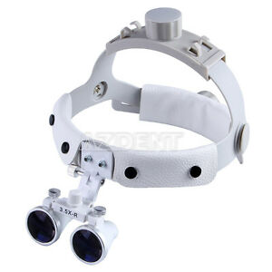 Dental 3 5x r Surgical Loupes Binocular Headband Glass Medical Magnifier White