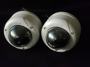 Qty 2 Pelco Sarix Im10dn10 1v Fixed Dome Ip Poe Cameras Cctv With Mounts