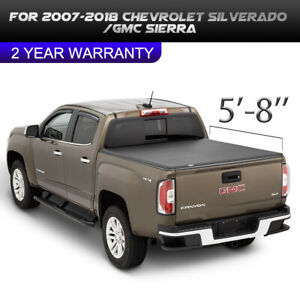 Fits 07 13 Chevy Silverado Gmc Sierra 1500 5 8ft Rear Short Bed Tonneau Cover