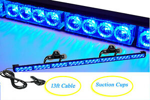 Blue 35 5 32 Led Emergency Flash Traffic Advisor Directional Warn Strobe Light
