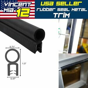 32ft Car Door Rubber Seal Weatherstrip Auto Edge Trim Molding Window Protection