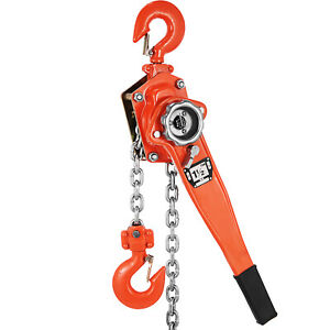3300lbs 10ft Ratcheting Lever Block Chain Hoist Come Along Puller Pulley