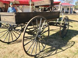 Antique Horsedrawn Wooden Wheel Wagon