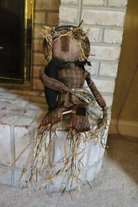Jack Straw The Scarecrow Doll With Crow Primitive Grungy Pine Creek