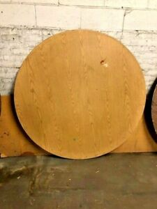 Used Wood Top Round Banquet Catering Folding Tables 60