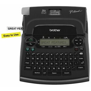 Brother Pt 1890w Deluxe Label Maker With White Yellow Starter Tape